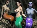 Vollbusig sirenen und nackt meerjungfrauen