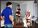 Flirten sie mit sexy krankenschwestern in porno spiel