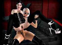 Shemale Porno Spiele mit 3D shemale sex